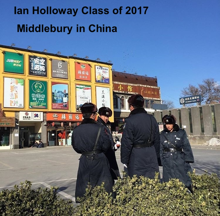 Ian Holloway Class of 2017 Middlebury School in China