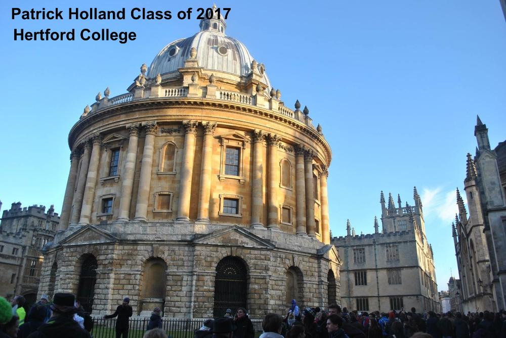 Patrick Holland Class of 2017 Hertford College